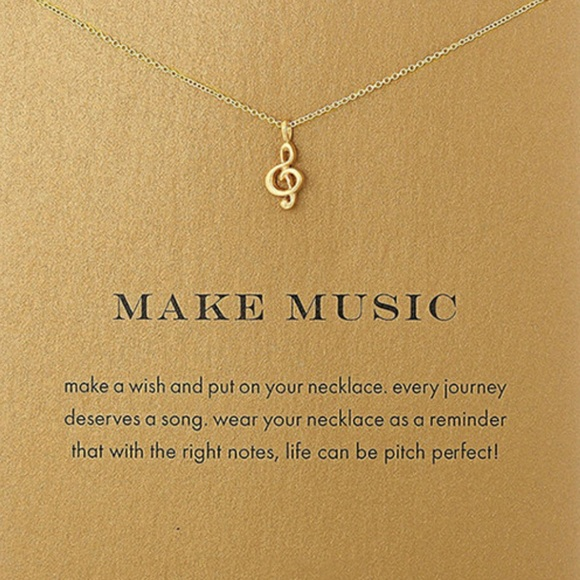 fancy fashions Jewelry - Make music charm necklace gold